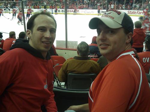 Andy & G at Caps game